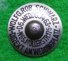 Pin mit 2 Krallen zum umbiegen Wolfg. Rob. Schwarz Berlin, nur bei diesem Hersteller bekannt