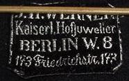 Stoffetikett J.H. Werner Berlin