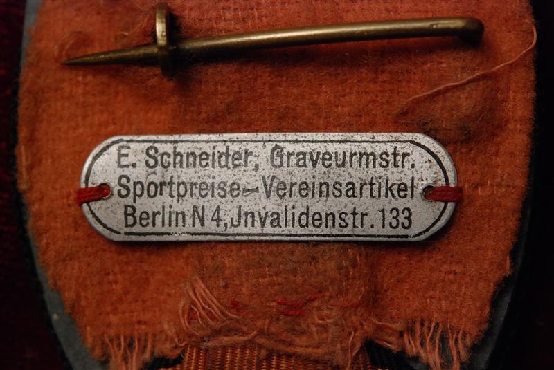 Blechschildchen J. Schneider Berlin