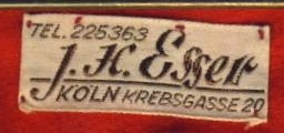Stoffetikett H. Esser Köln