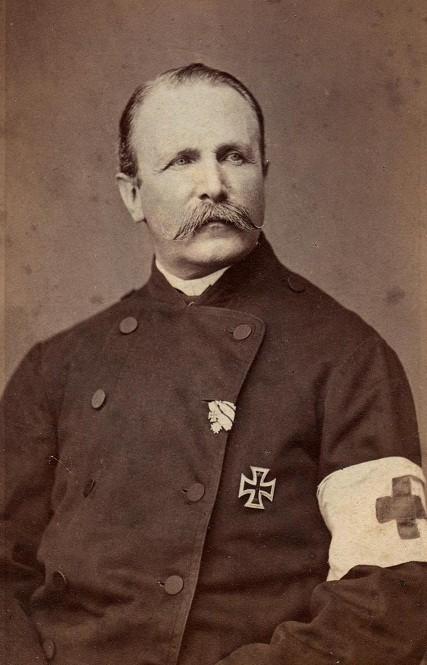 Staatsrat Friedrich von Wardenburg, EK2 1870 am weiß-schwarzen Band (hier: als Miniatur im Knopfloch)  nebst der dazugehörigen 1.Klasse