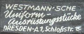 Stoffetikett Westmann`s Dresden