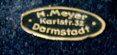 Blechschildchen H. Meyer Darmstadt