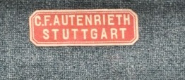 Stoffetikett Autenrieth Stuttgart