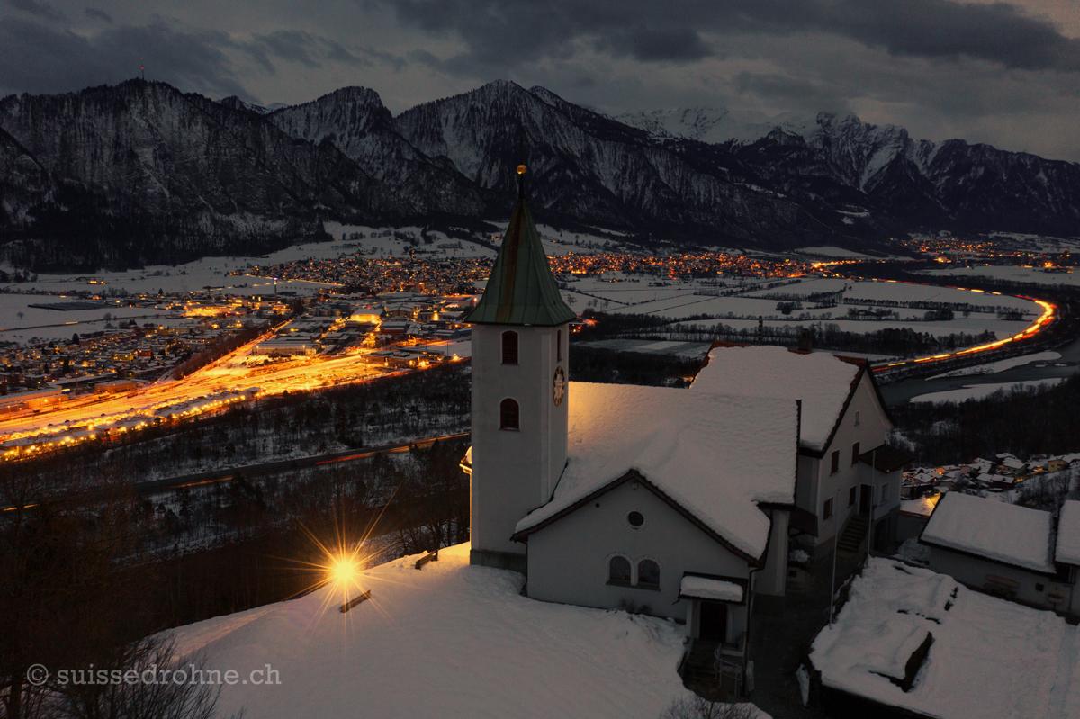 Mastrils mit Kirche und Igis/Zizers