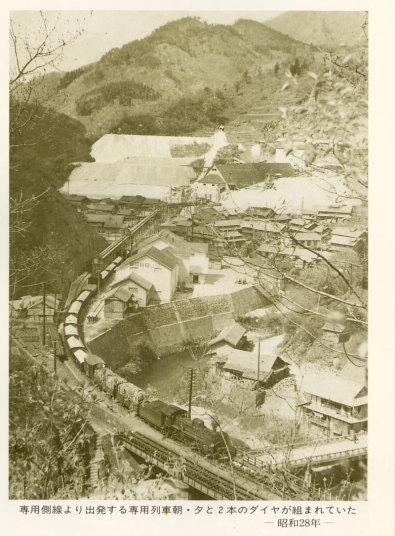 専用側線から出発する  専用列車(昭和28年)