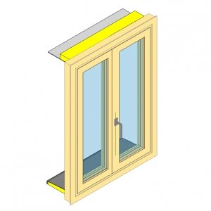 Ejemplo de objeto BIM de una ventana desarrollado bajo el esquema de eCOB