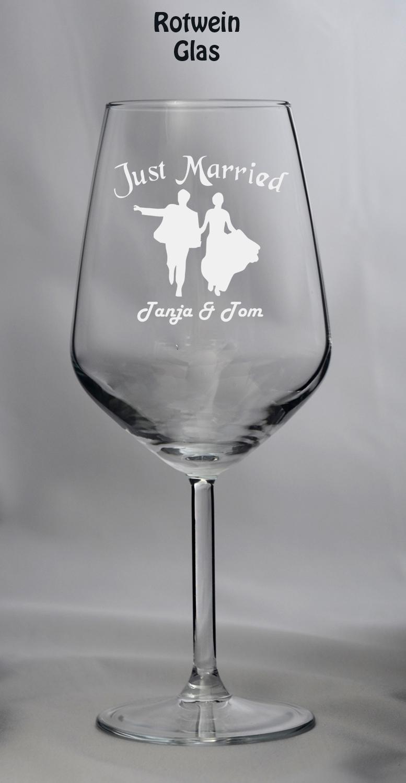 Hochzeitglas - Weinglas Hochzeit - Weingläser Hochzeit