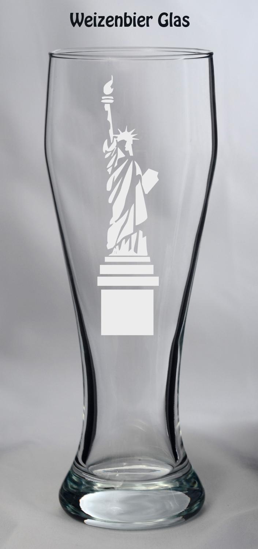 Glas mit Stadt