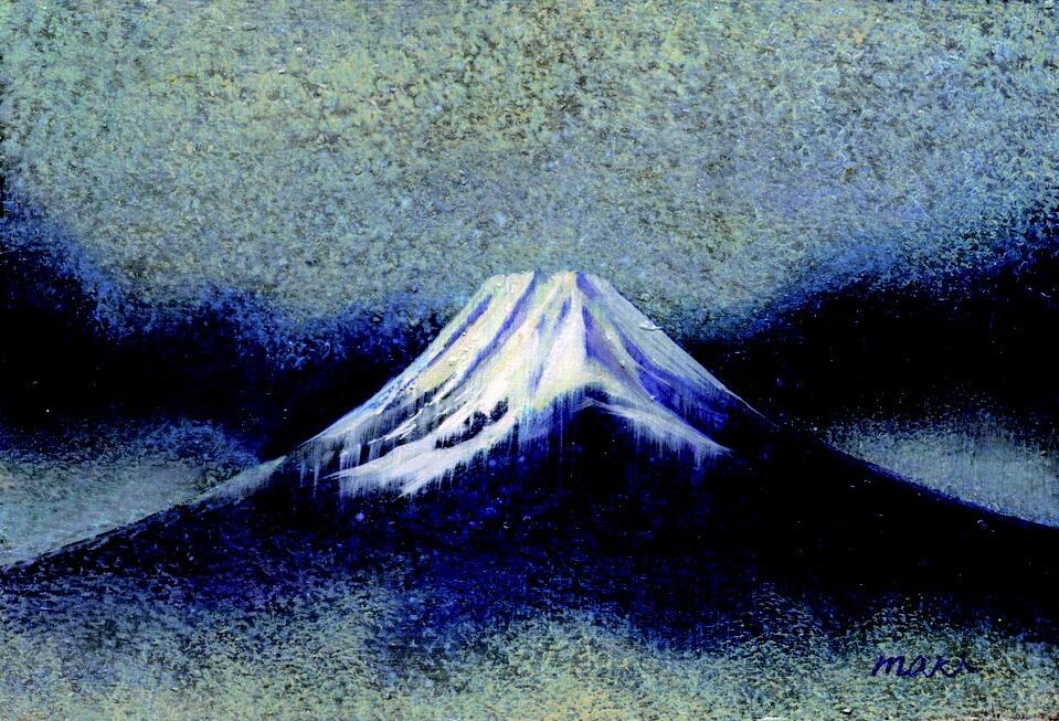 展示予定作品「青雲・富士」ポストカード大