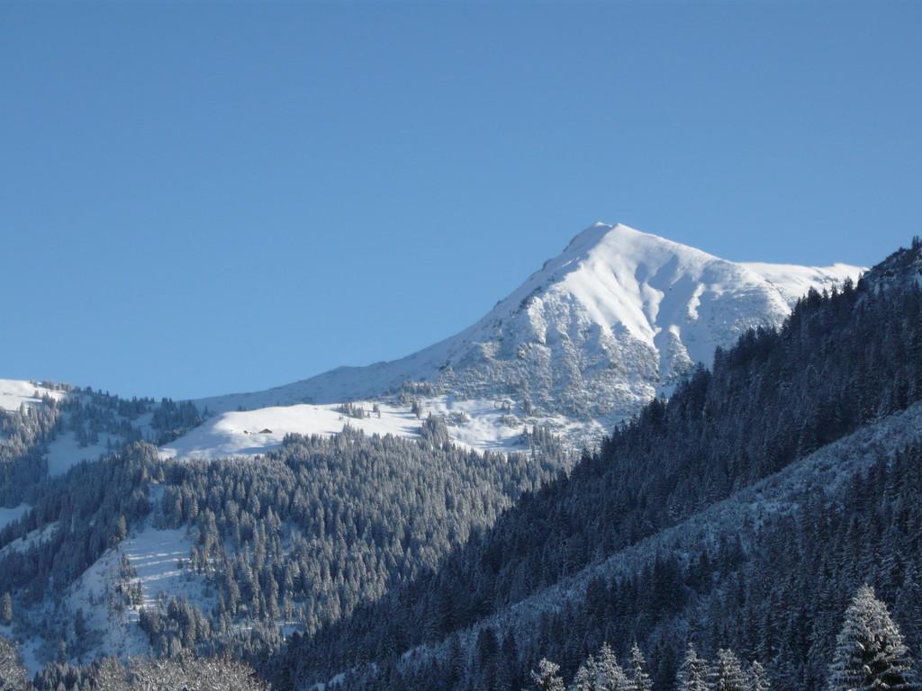 Sonniger Wintertag - links die Kuhgernalpe, rechts die Hammerspitze