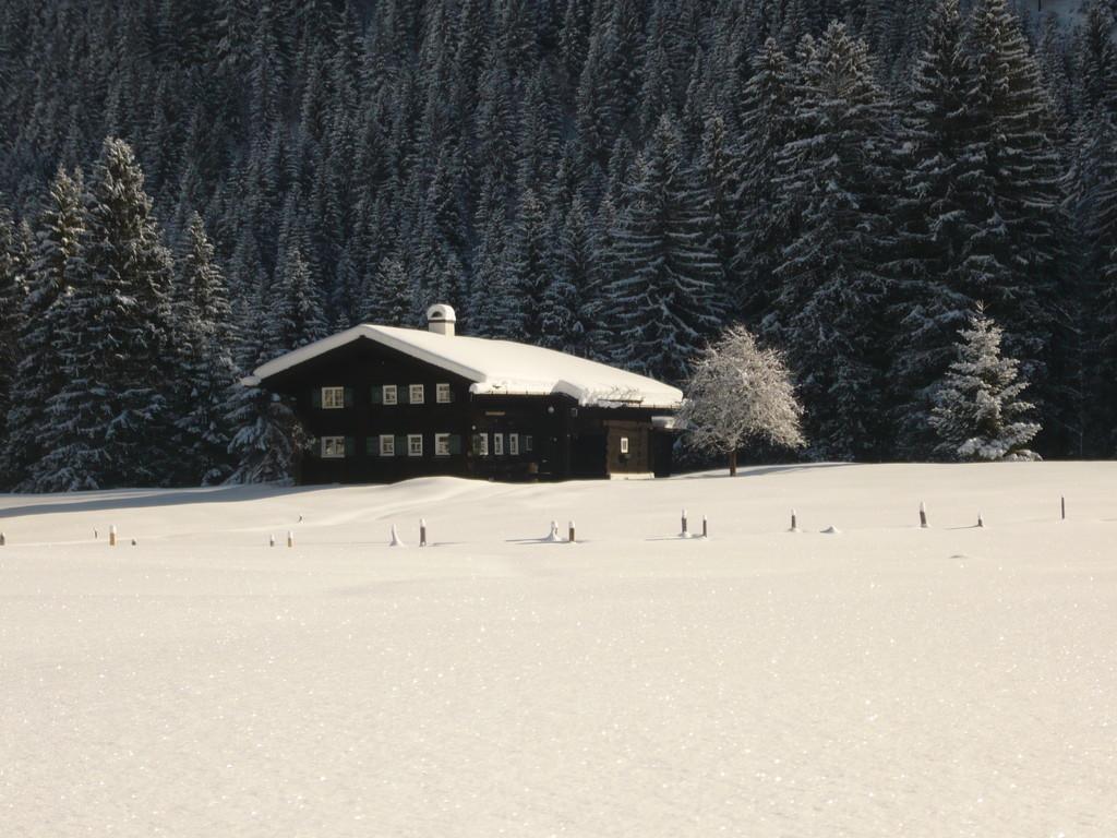 Das älteste Walserhaus im Winterkleid