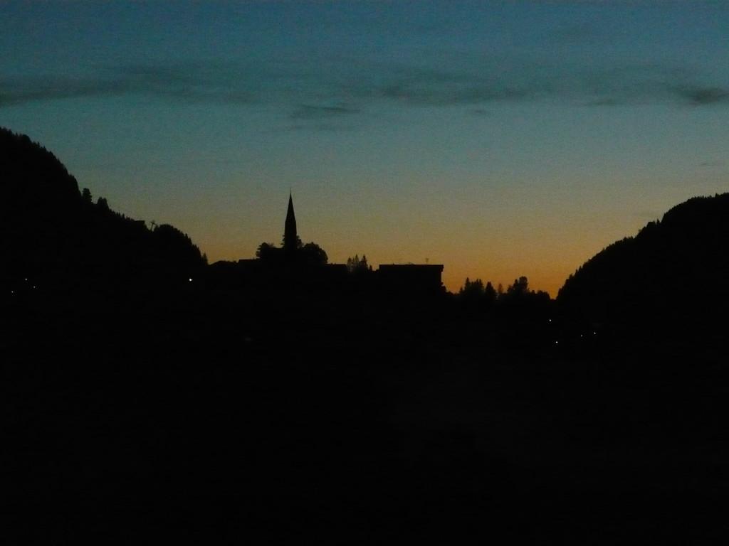 Mittelberg am späten Abend