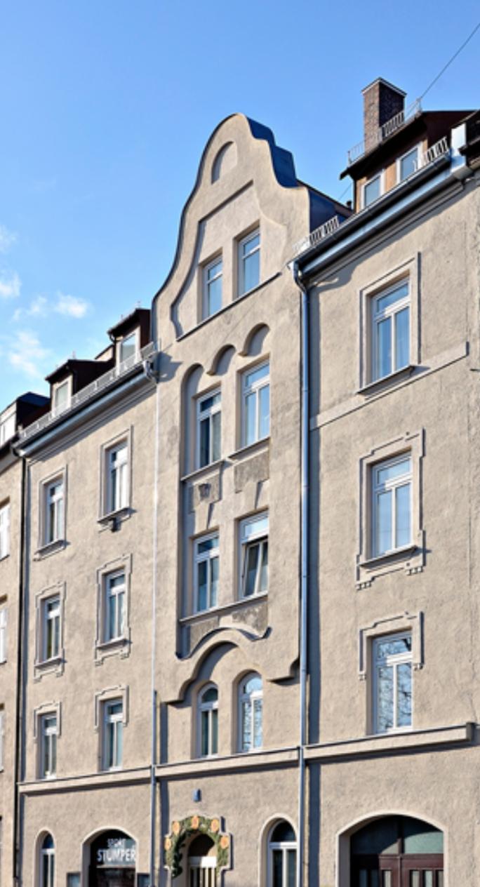 Denkmalschutz: Fassadenrenovierung München-Altstadt