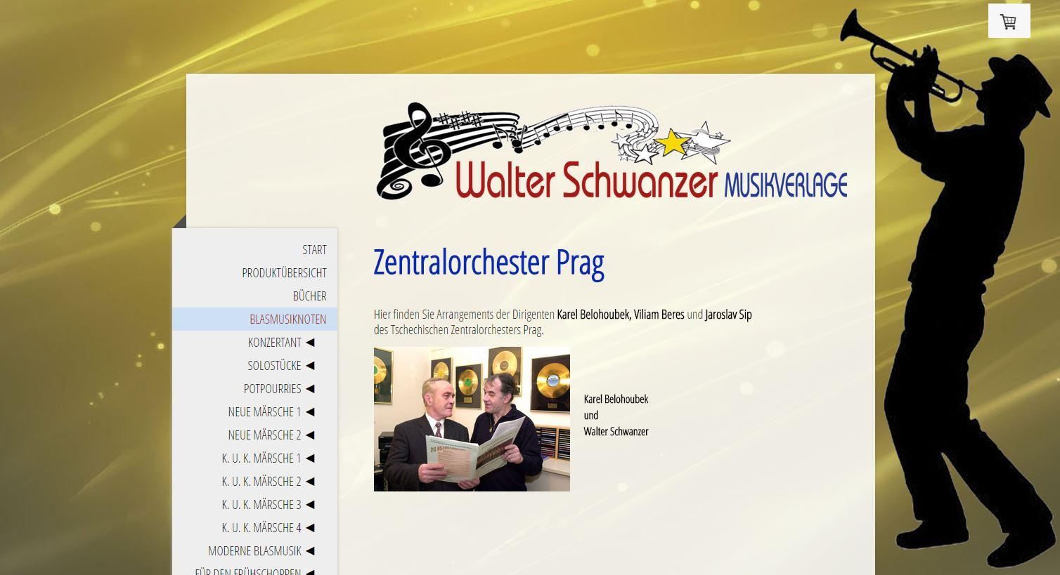 Noten vom Zentralorchester Prag