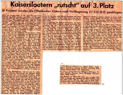 Spielbericht FCK-Kickers Offenbach (Bild: Archiv Markus Röder)