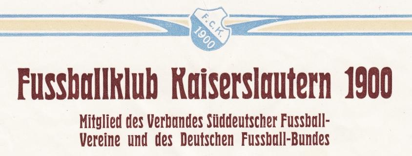 Briefkopf FC 1900 aus dem Jahr 1907 (Foto: Archiv Eric Lindon)