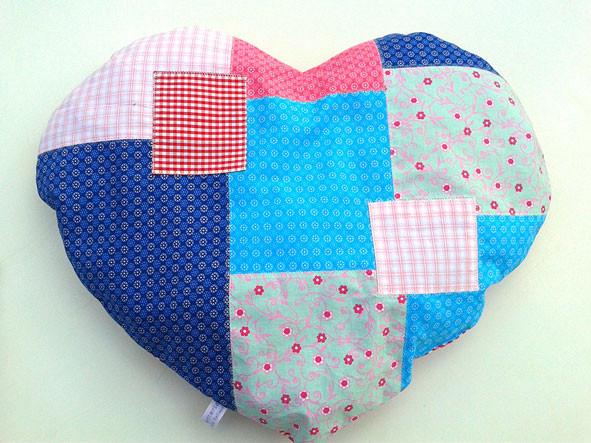 kreamix patchwork Herzkissen