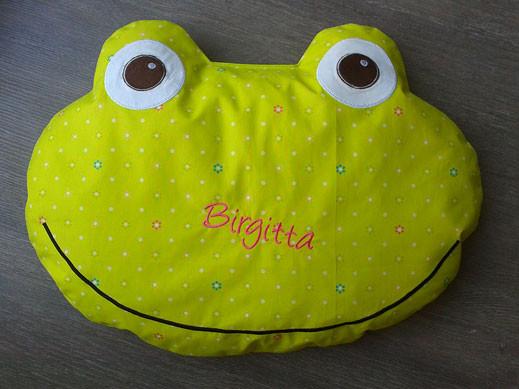 Sitzkissen Frosch, besonders dick gefüllt