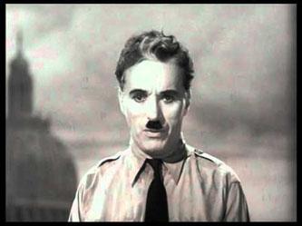 Charlie Chaplin als der große Diktator