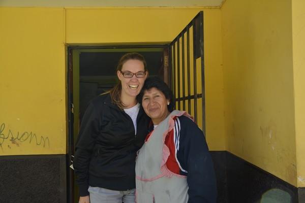 Fabiola avec la professeur Francesca