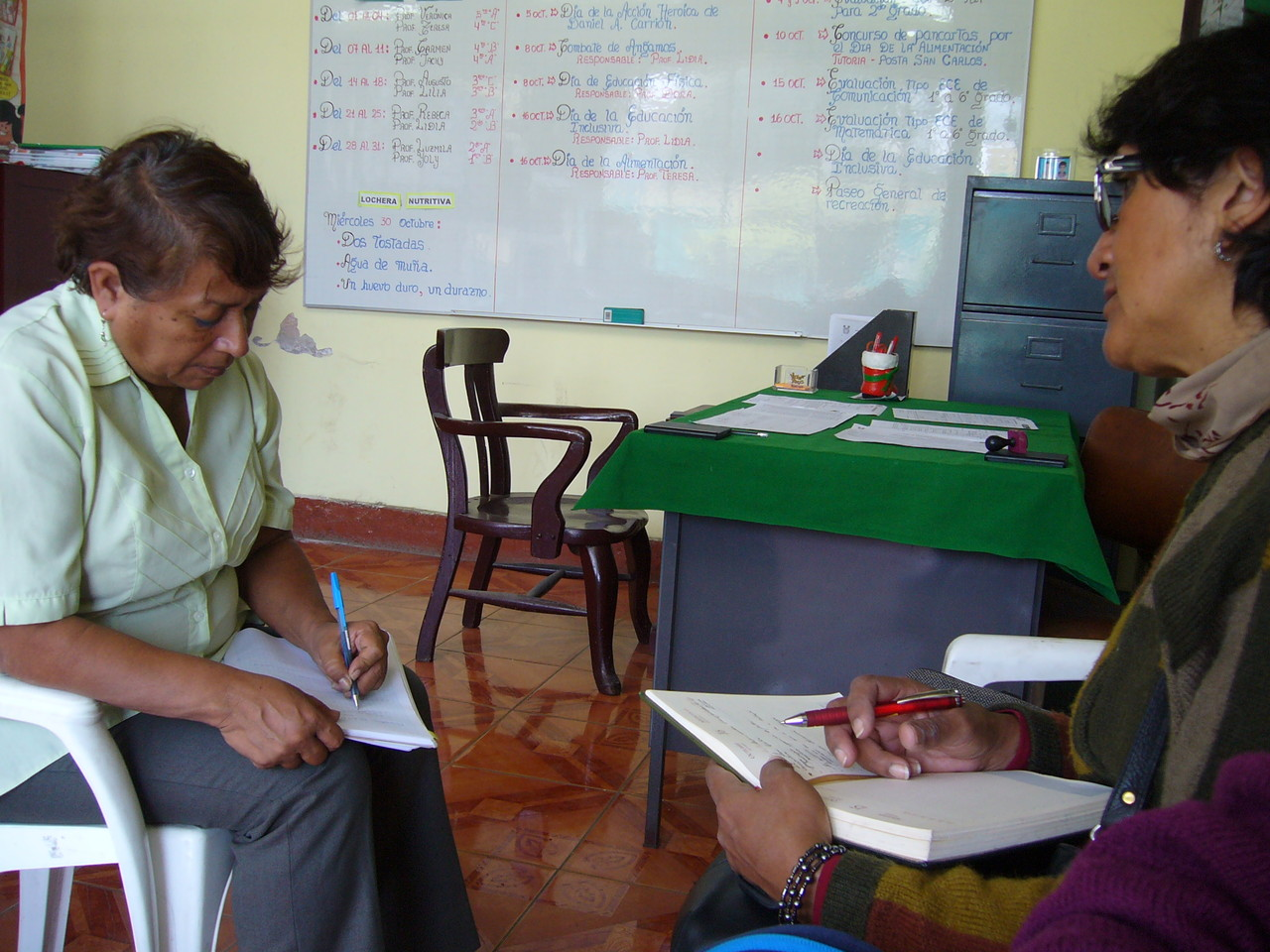 Coordination avec la professeur Emma Huamán