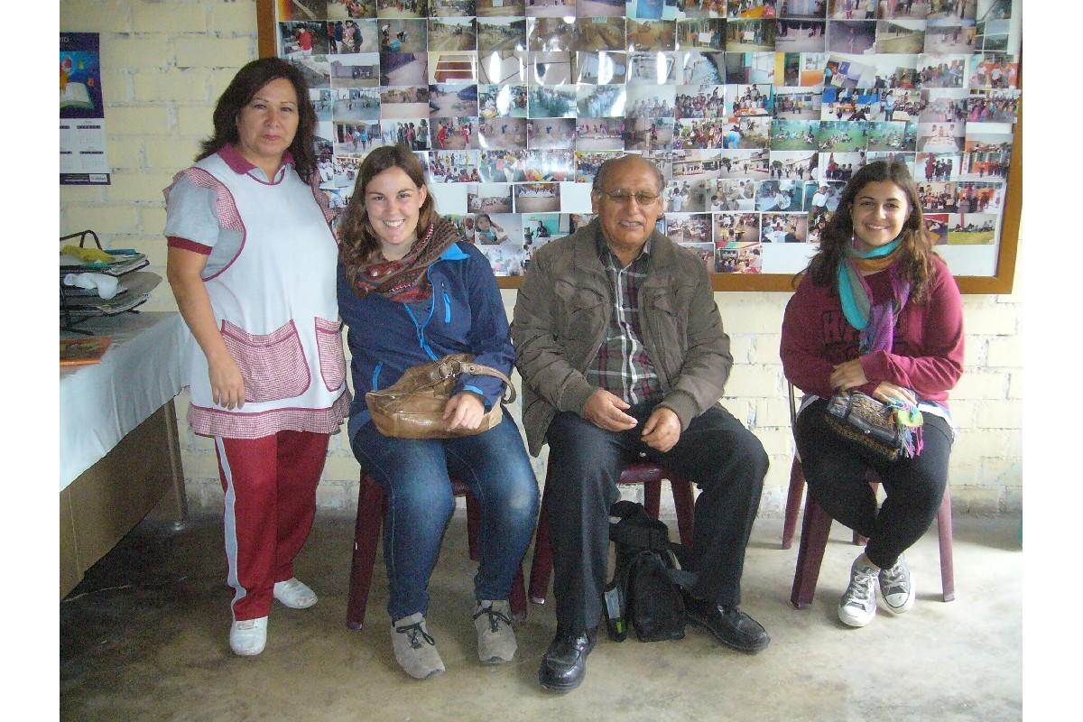 Avec le professeur Arbieto qui nous a contacté