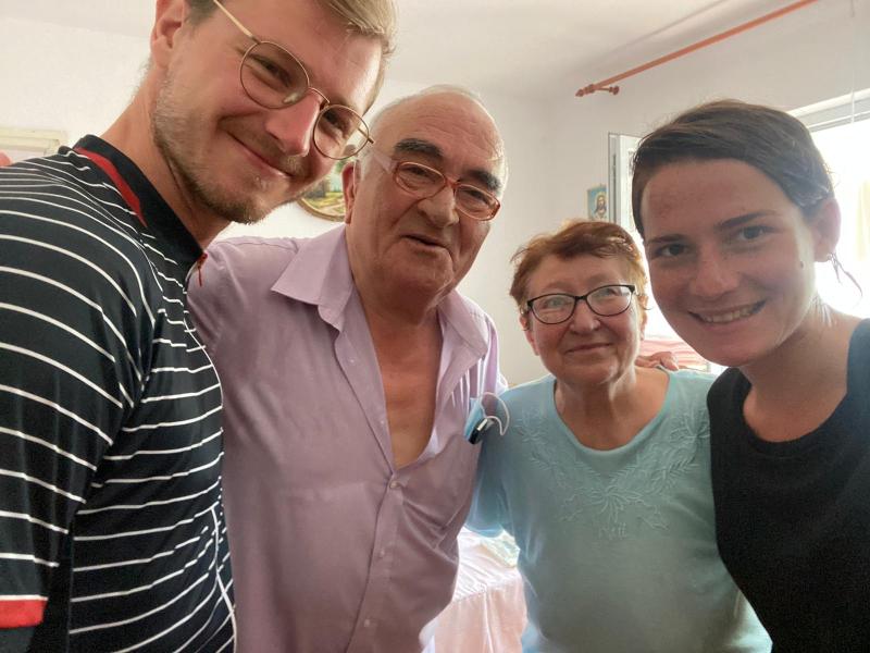 Unsere Gastgeber Marcel und Paula aus Corabia