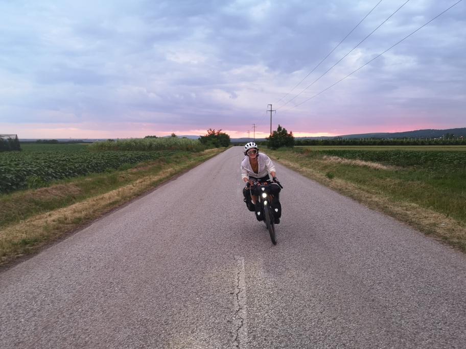 Sophia in cycle mood (Kroatien)