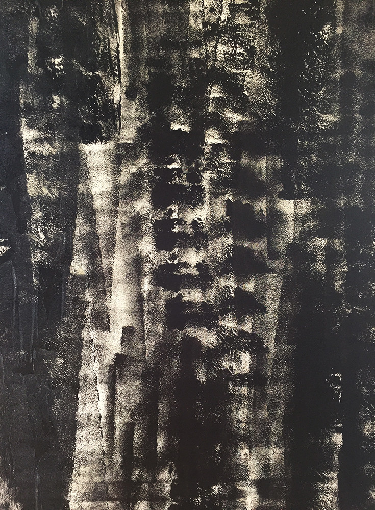BLACK BEAUTY/Acryl auf Leinwand 90 x 240