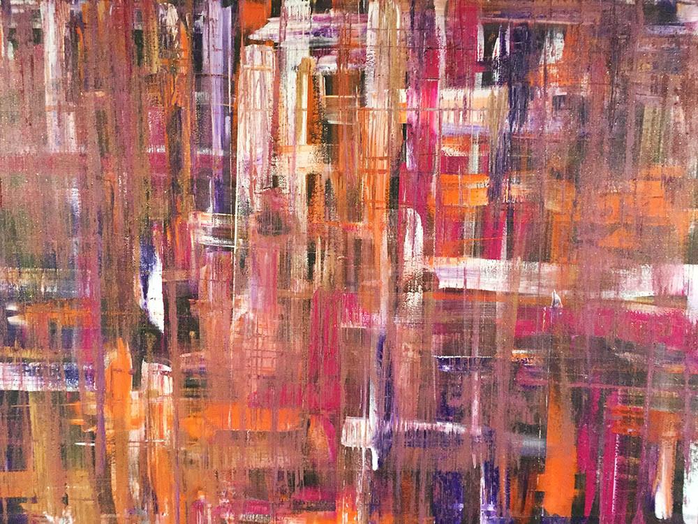 VIOLET DREAMS/Acryl auf Leinwand 150 x 100