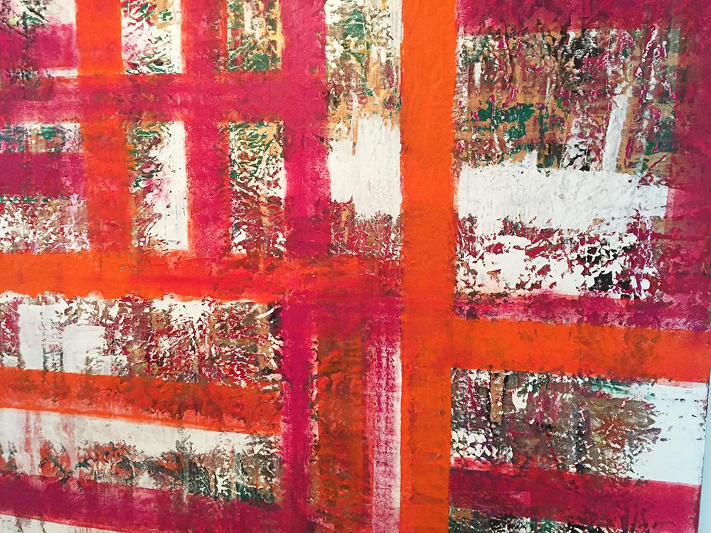 THE FOUR SEASONS/Acryl und Gouache auf Leinwand 190 x 170