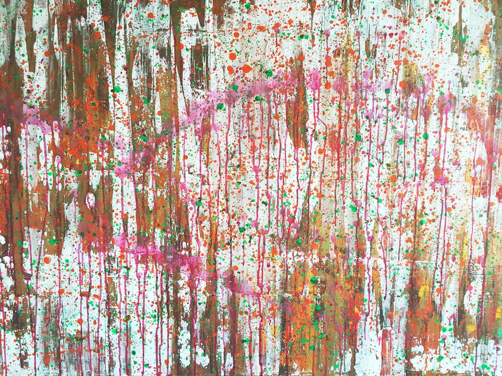 FARBENWALD/Acryl und Gouache auf Leinwand 150 x 100