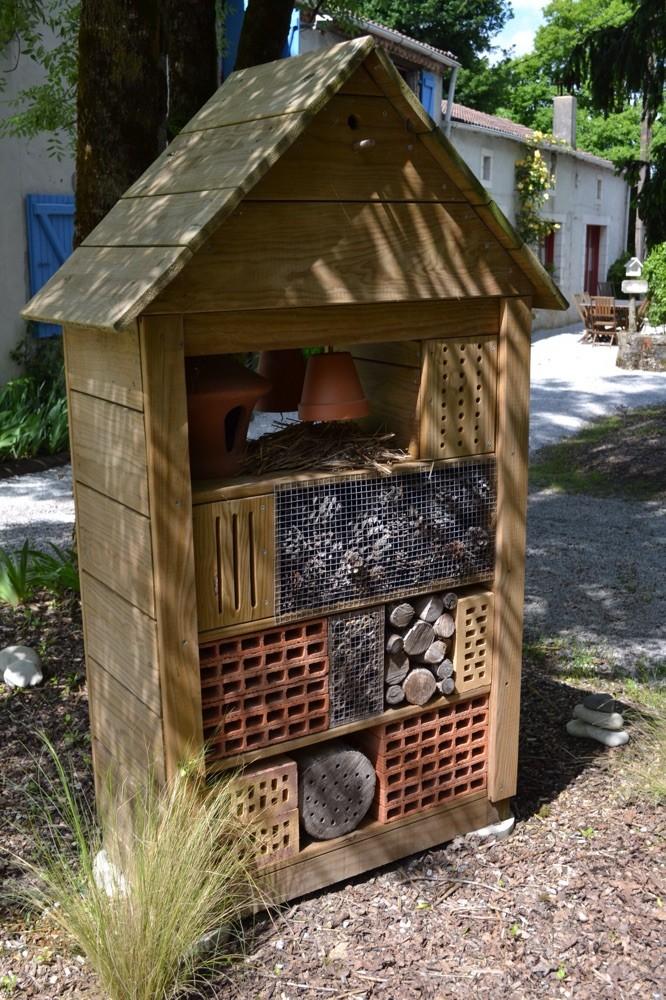 Gîte à insectes fabriqué par Thierry