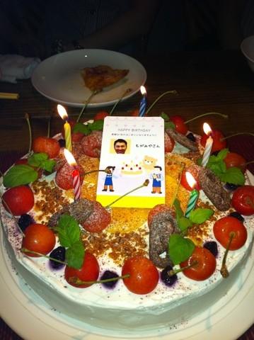登別の社員さんが開いてくれたパーティーの抜群においしいケーキ