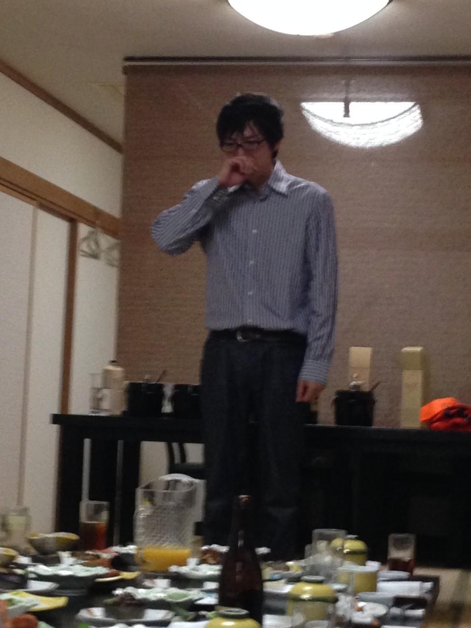 アパレル部門責任者 鈴木くんの号泣インキュベートト挨拶