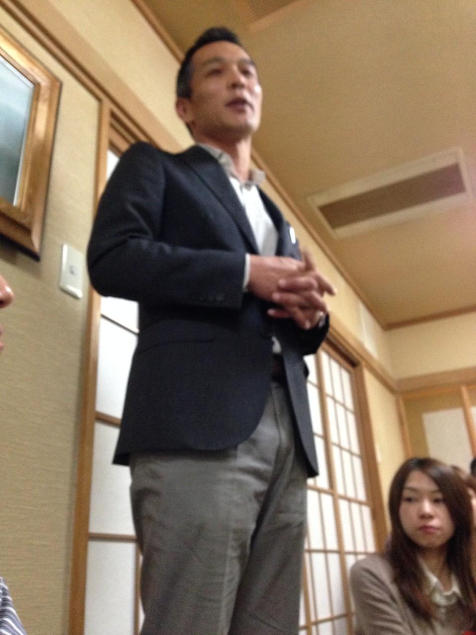 福岡から来ていただいた陣内社長