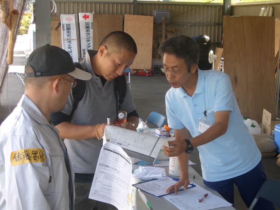 災害支援活動 ボランティアセンターと打ち合わせ