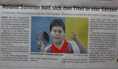 Roland Sommer holt sich den Titel in vier Sätzen - WP-Regionalsport 10.1.13