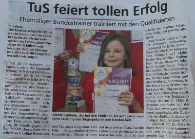 TuS feiert tollen Erfolg - Sauerlandkurier vom 13.3.13