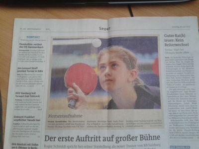 Momentaufnahme - Westfalenpost Hauptsport vom 26.6.2012