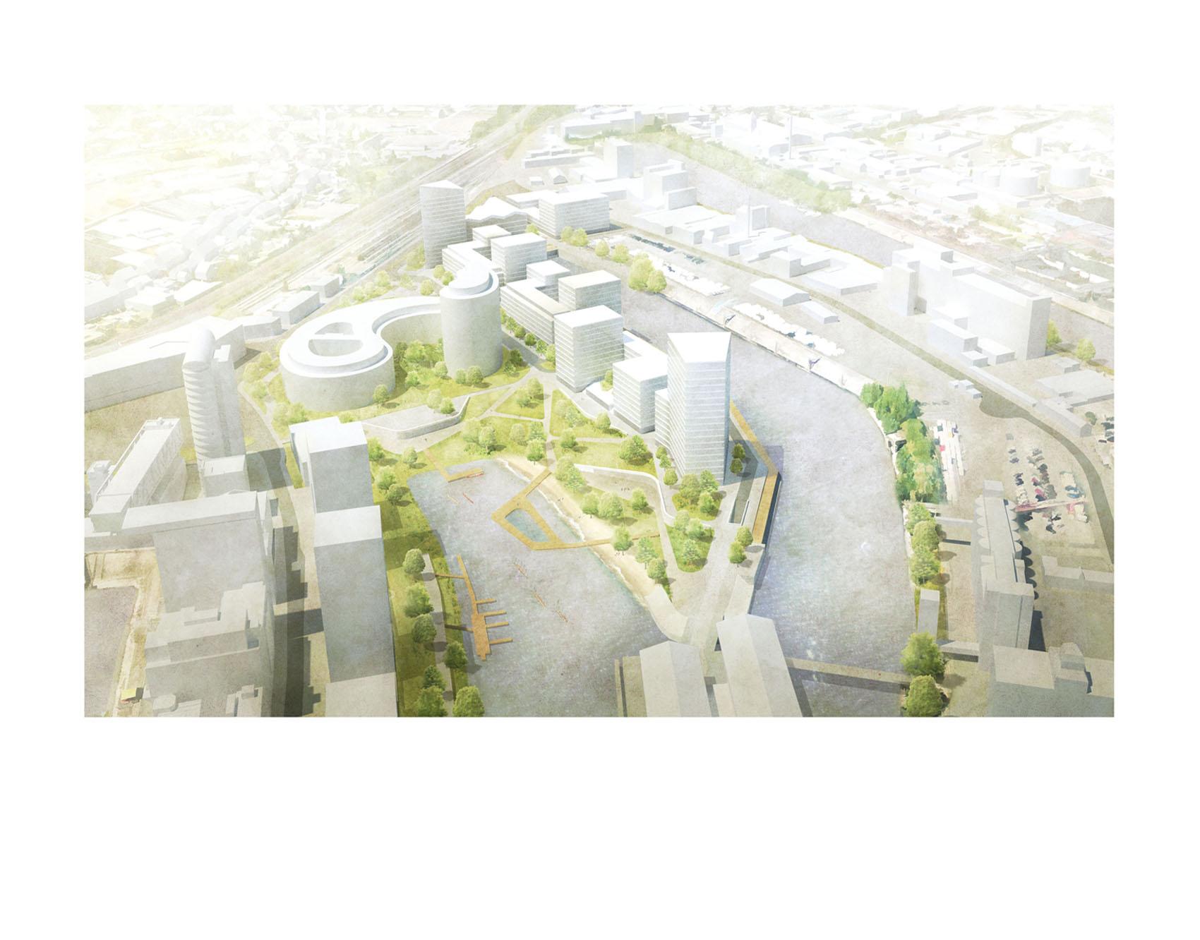 """03/2019<br>Unser Vorschlag für die Halbinsel Kesselstraße in Düsseldorf wurde der Öffentlichkeit vorgestellt.<br>Wir freuen uns über den positiven Bericht in der WZ!<br><br><a href=""""https://bit.ly/2CEJL5G""""target=""""_blank"""">Artikel</a>"""