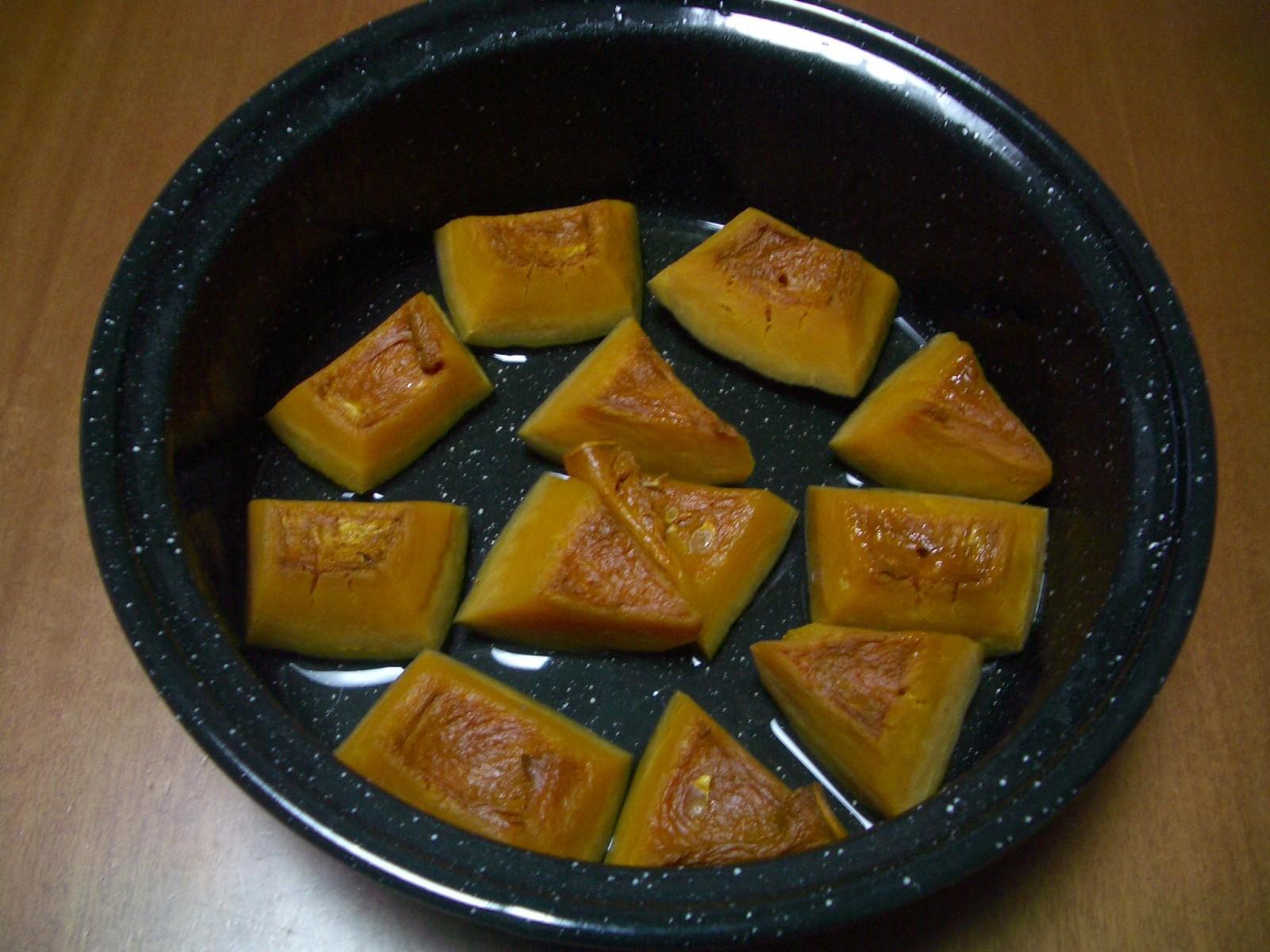 カボチャの蒸し煮