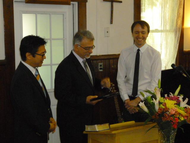 5月25日:特別礼拝按手礼式