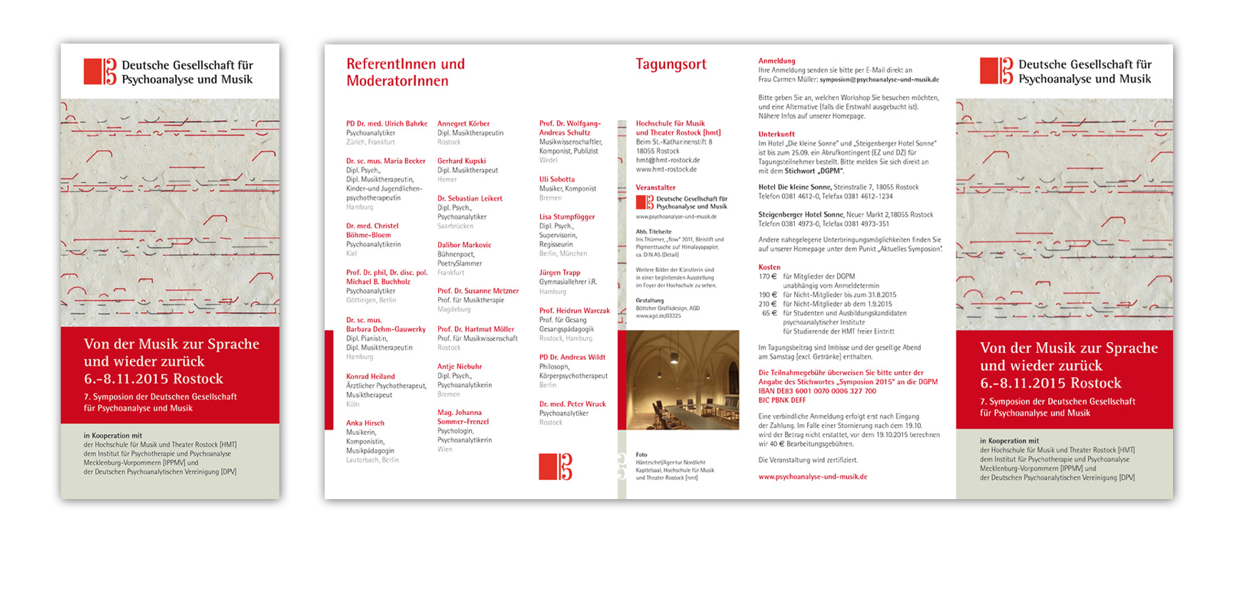 Symposion der Deutschen Gesellschaft für Psychoanalyse und Musik in Rostock | Faltprospekt