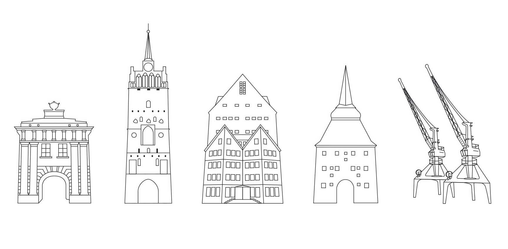 Vignetten: Hansestadt Rostock