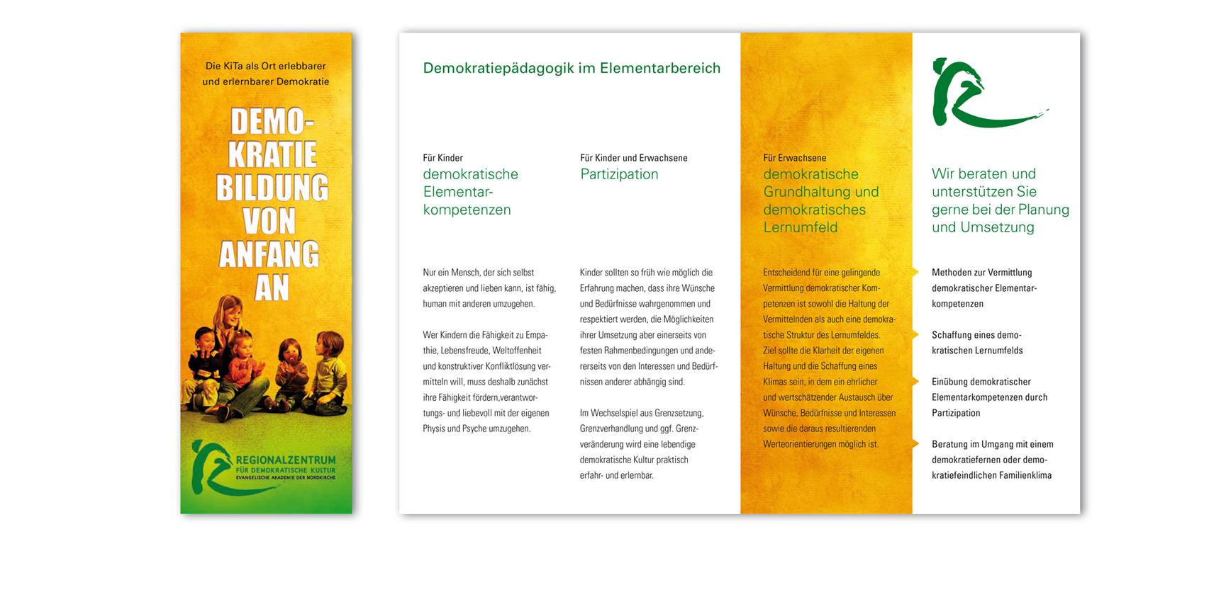 Demokratiepädagogik im Elementarbereich | Faltblatt