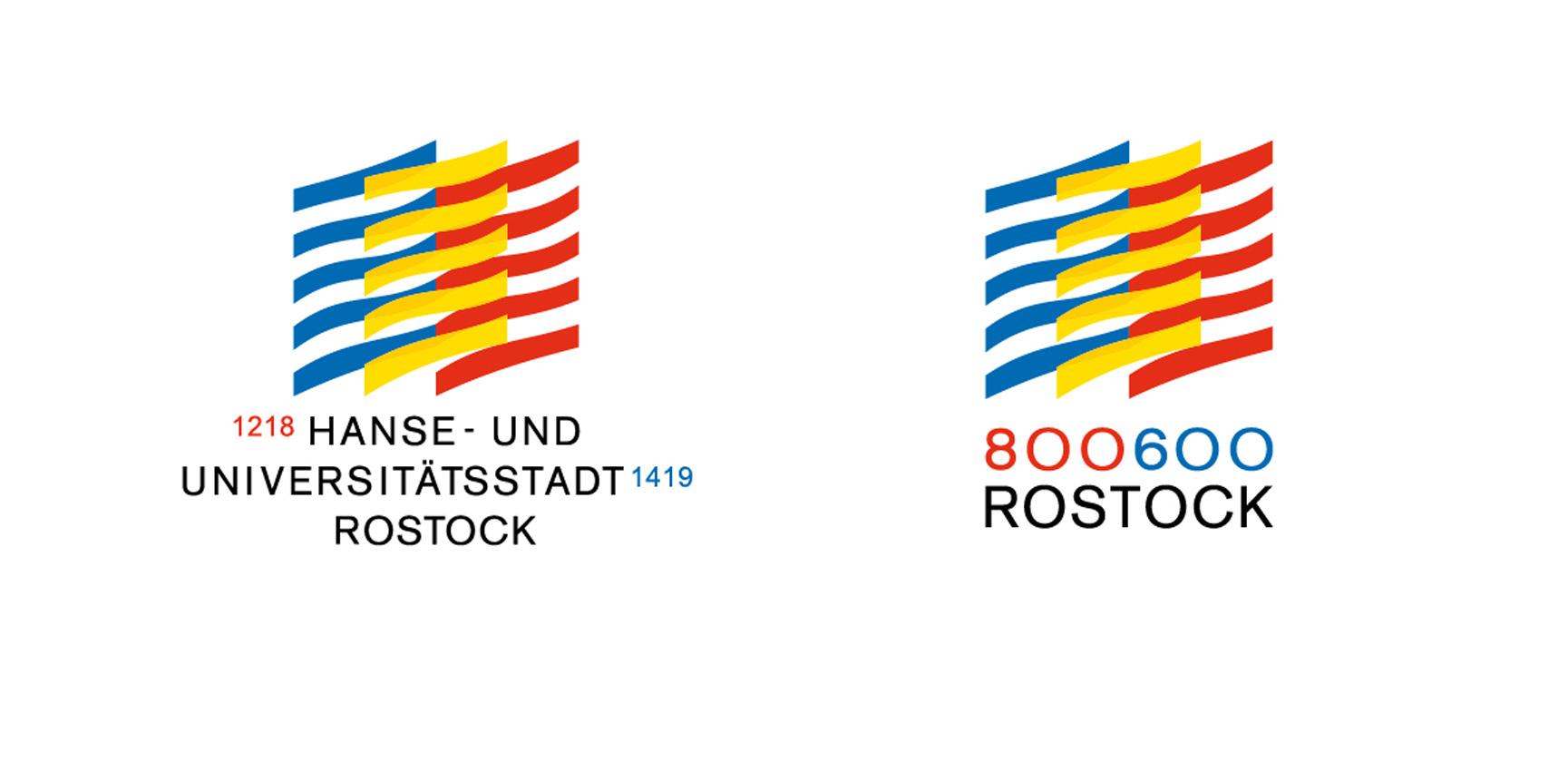 Signetentwicklung zum Doppeljubiläum der Hanse- und Universitätsstadt Rostock 2018/2019 | 1. Preis, Zuschlag nach Ausschreibung