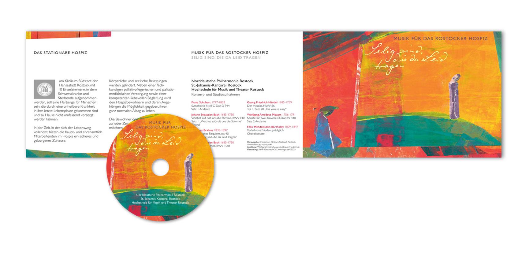 CD, Musik für das Rostocker Hospiz, Collage (Ausschnitt): Wolfgang Friedrich