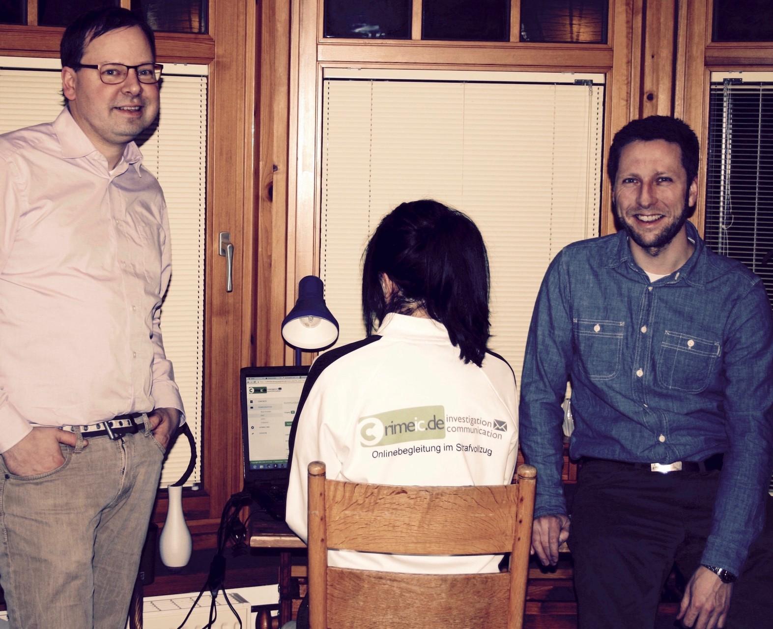 Die beiden Projektleiter und Gründer von crimeic.de (von links nach rechts): Peter Lutz Kalmbach & Tim Krenzel (Bildquelle: © crimeic.de)